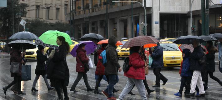 Βροχή στην Αθήνα/Φωτογραφία: IntimeNews