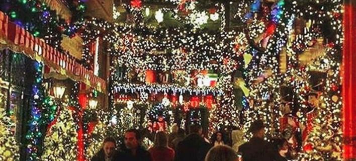 Χριστουγεννιάτικoς στολισμός στην Αθήνα/ Φωτογραφία: Instagram