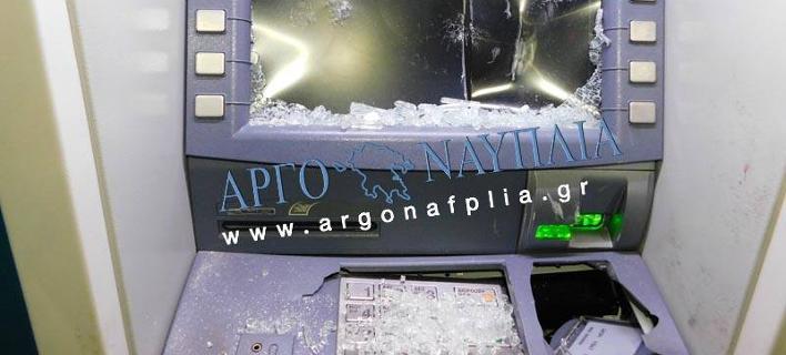 Αλλοδαπός έσπασε ΑΤΜ στη Νέα Κίο (Φωτογραφία: argonafplia.gr)