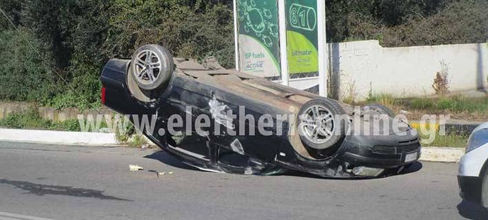 Ο οδηγός είχε διαφύγει προτού φθάσουν οι αστυνομικοί / Φωτογραφία: eleftheriaonline.gr