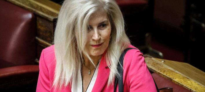Η βουλευτής του ΣΥΡΙΖΑ, Ελένη Αυλωνίτου -Φωτογραφία: Eurokinissi/ΠΑΝΑΓΟΠΟΥΛΟΣ ΓΙΑΝΝΗΣ