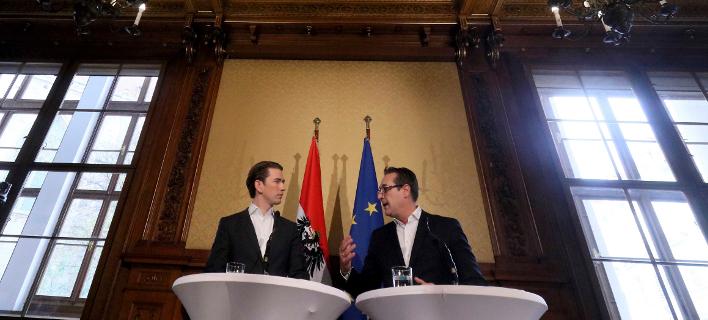 O Σεμπάστιαν Κουρτς και ο Χάιντς Κρίστιαν Στράχε (Φωτογραφία: ΑΡ)