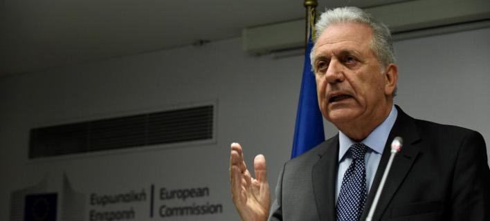 Ο Επίτροπος της ΕΕ Δ. Αβραμόπουλος: Φωτογραφία: EUROKINISSI/ΤΑΤΙΑΝΑ ΜΠΟΛΑΡΗ)