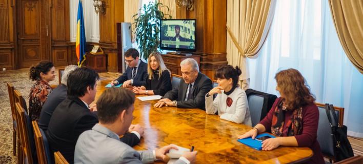 Συνομιλίες με τη Ρουμάνα πρωθυπουργό, φωτογραφία ΑΠΕ-ΜΠΕ