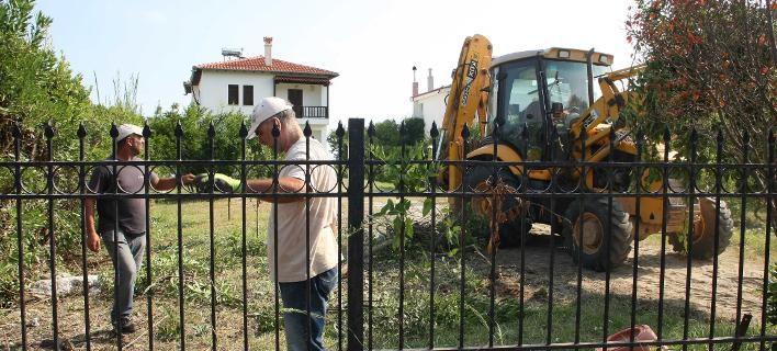κατεδάφιση στη Χαλκιδική/Φωτογραφία: Eurokinissi