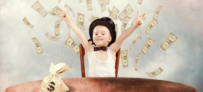 Απλές συμβουλές για να γίνει το παιδί σας εκατομμυριούχος. Φωτογραφία: Shutterstock