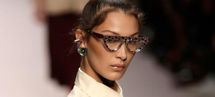 H Mπέλα Χαντίντ στην Εβδομάδα Μόδας/ Φωτογραφία: AP