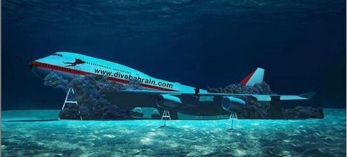 Το βυθισμένο Boeing 747. Φωτογραφία: Instagram
