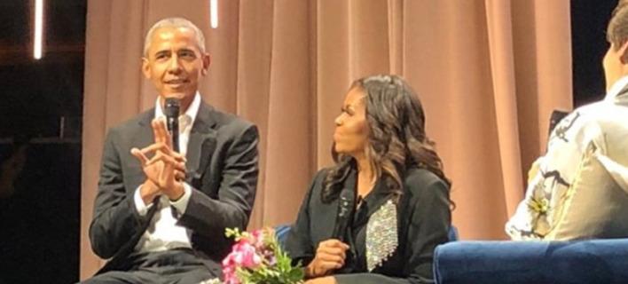 Η έκπληξη του Ομπάμα στην Μισέλ. Φωτογραφία: Instagram