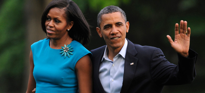 Ο πρώην πρόεδρος των ΗΠΑ, Μπαράκ Ομπάμα, με τη σύζυγό του Μισέλ. Φωτογραφία: AP