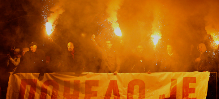 Η διαδήλωση έγινε λίγες μέρες πριν την άφιξη του Βλαντίμιρ Πούτιν στο Βελιγράδι (Φωτογραφία: AP/Darko Vojinovic)
