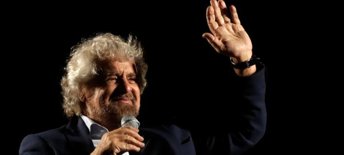 O Ιταλός κωμικός Μπέπε Γκρίλο ίδρυσε το M5s το 2009 (Φωτογραφία: ΑΡ)