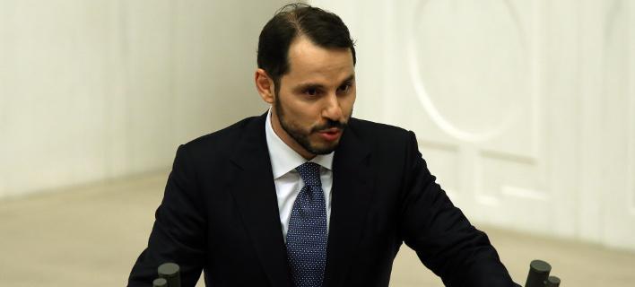 O Τούρκος υπουργός Οικονομικών Μπεράτ Αλμπαϊράκ/ Φωτογραφία AP images