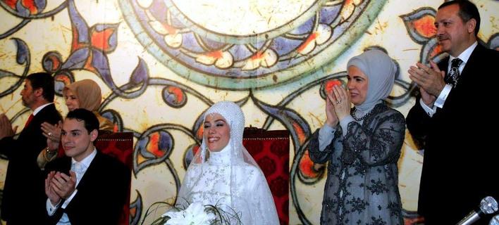 Φωτογραφία αρχείου απο τον γάμο του Αλμπαιράκ με την κόρη του Ερτνογάν, EPA/ΑΠΕ