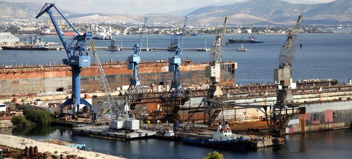 Τα ναυπηγεία Ελευσίνας /Φωτογραφία: Εurokinissi