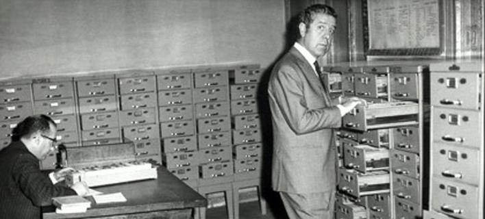 Ο Λουίς Γκαρθία Μπερλάνγκα σε αναζήτηση αρχείων
