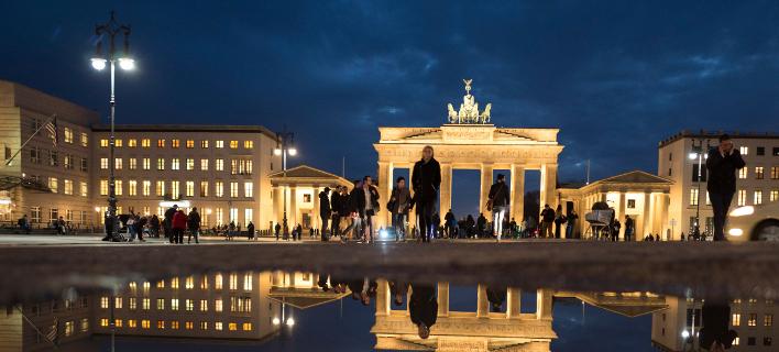 Στιγμιότυπο από το Βερολίνο (Φωτογραφία: Joerg Carstensen/dpa via AP)
