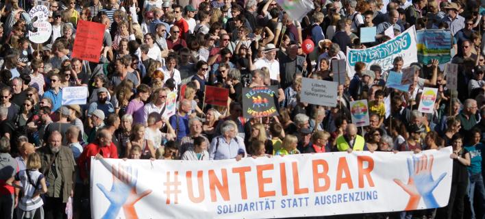 διαδήλωση στο Βερολίνο/Φωτογραφία: AP