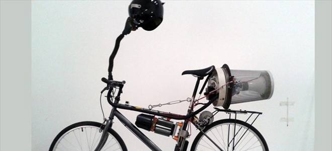 «Εξυπνο» ποδήλατο τροφοδοτεί με καθαρό αέρα τον αναβάτη [εικόνα&βίντεο]