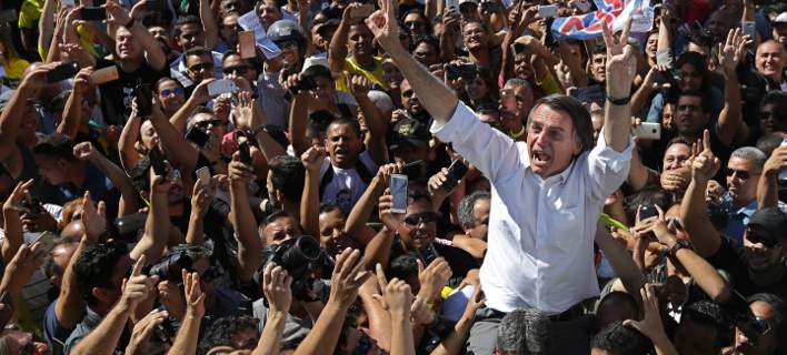 O ακροδεξιός υποψήφιος Ζαΐχ Μπολσονάρου (Φωτογραφία: ΑΡ)