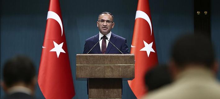 Ο αντιπρόεδρος της τουρκικής κυβέρνησης Μπεκίρ Μποζντάγκ/Φωτογραφία: Anadolu