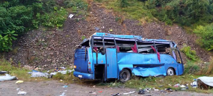 Δυστύχημα με λεωφορείο στη Βουλγαρία (Φωτογραφία: Bulgarian Interior Ministry via AP)