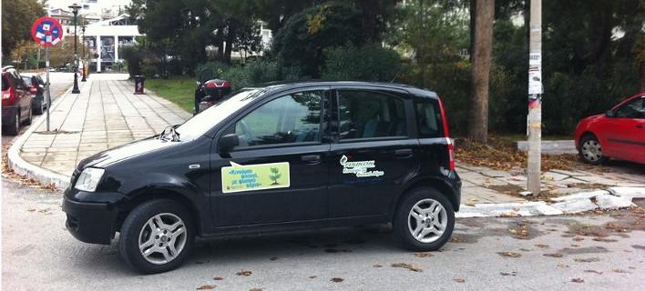 Το σεμνό και ταπεινό υπηρεσιακό αυτοκίνητο με το οποίο κυκλοφορεί ο Μπουτάρης