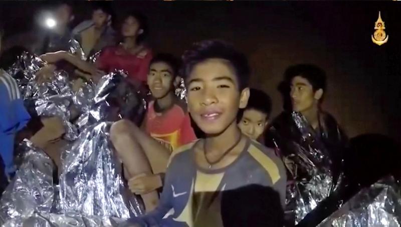 Τα εγκλωβισμένα παιδιά στο σπήλαιο. Φωτογραφία: AP