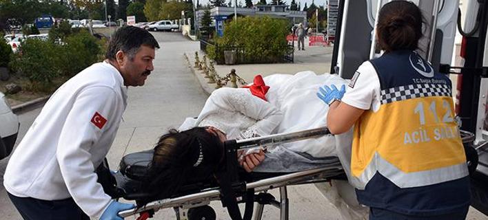 Και η νύφη μεταξύ των τραυματιών. Φωτογραφία: Hurriyet