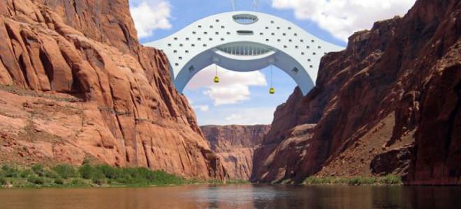 Οικολογικό ξενοδοχείο- γέφυρα πάνω από τον ποταμό του Κολοράντο [εικόνες]