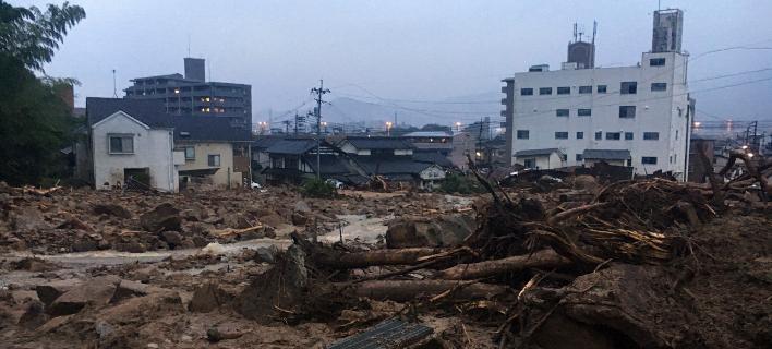 Ιαπωνία: 81 νεκροί από τις ισχυρές βροχοπτώσεις (Φωτογραφία: AP Photo Haruka Nuga)