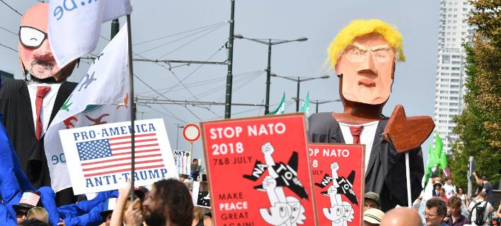 Πορεία κατά του Τραμπ στις Βρυξέλλες/ Φωτογραφία AP images