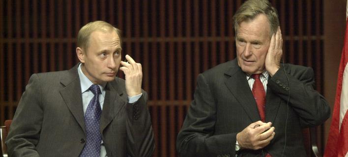 Τζορτζ Μπους ο πρεσβύτερος- Βλαντιμίρ Πούτιν/ Φωτογραφία: AP