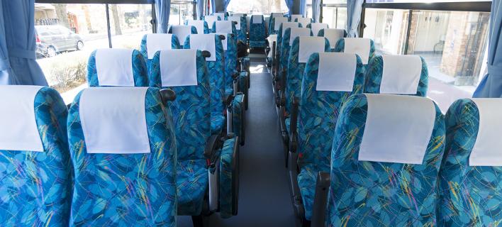 Καθίσματα λεωφορείου /Φωτογραφία: Shutterstock