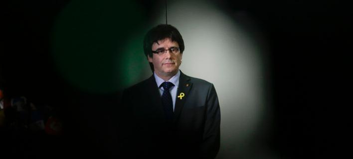 Ο πρώην πρόεδρος της Καταλονίας, Κάρλες Πουτζδεμόν (Φωτογραφία: ΑΡ)