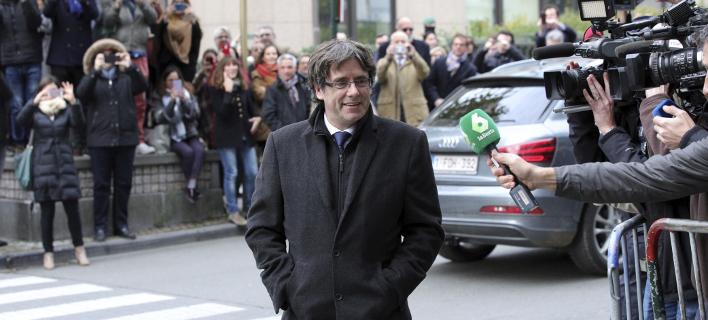 O Πουτζδεμόν στο Βέλγιο /  Φωτογραφία: (AP Photo/Olivier Matthys)