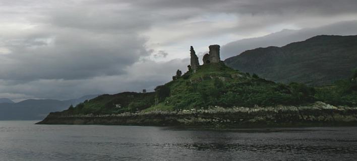 Το κάστρο Maol προτού υποστεί ζημιές από την μανία της φύσης. Φωτογραφία: Wikipedia