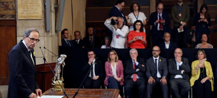 Ο Κιμ Τόρα είναι ο νέος επικεφαλής της κυβέρνησης της Καταλονίας (Φωτογραφία: ΑΜΠΕ)