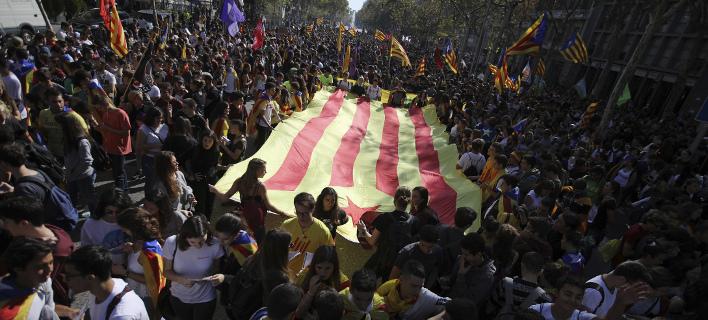 Νέα διαδήλωση στη Βαρκελώνη σήμερα (Φωτογραφία αρχείου: AP/ Emilio Morenatti)