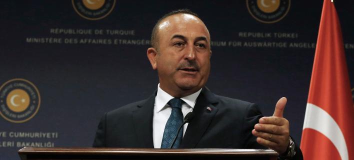 Ο Τούρκος υπουργός Εξωτερικών, Μέβλουτ Τσαβούσογλου (Φωτογραφία: AP Photo/Burhan Ozbilici)