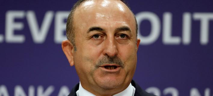 Ο Τούρκος υπ Εξ, Μεβλιούτ Τσαβούσογλου (Φωτογραφία: AP/Burhan Ozbilici)