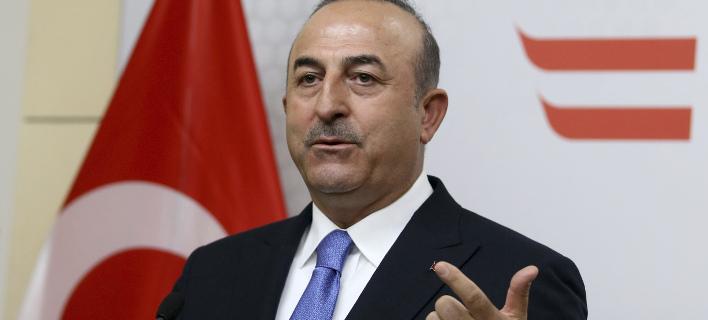 Ο Τούρκος ΥΠΕΞ, Μεβλούτ Τσαβούσογλου (Φωτογραφία: AP/ Ronald Zak)