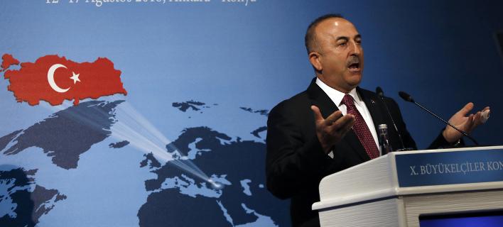 Ο Μεβλούτ Τσαβούσογλου (Φωτογραφία: AP/ Burhan Ozbilici)