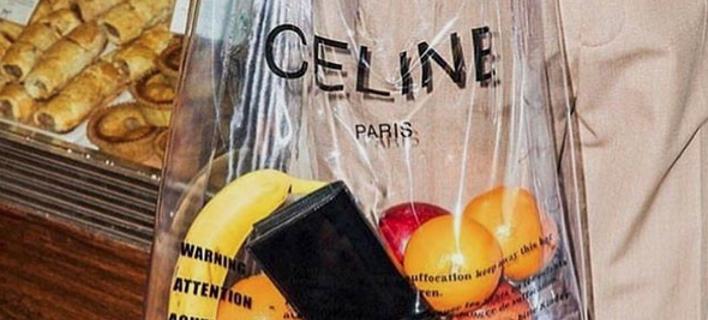 6bb0c6e6fa6 H Celine έκανε την τσάντα σούπερ μάρκετ... μόδα -Πλαστική, την πουλάει 480  ευρώ [εικόνες]