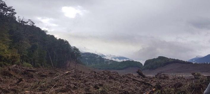 Χιλή: Δύο νεκροί μετά από κατολίσθηση από τις καταρρακτώδεις βροχές, Φωτογραφία: twitter