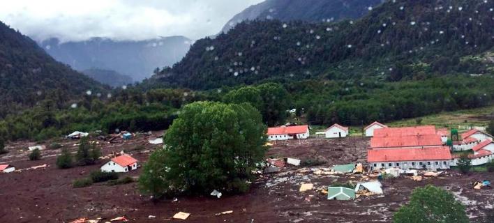 Χιλή: 11 νεκροί μετά από κατολίσθηση από τη σφοδρή κακοκαιρία (Φωτογραφία: Twitter)