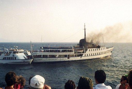 Η εικόνα του City of Poros από πλοίο που προσέγγισε