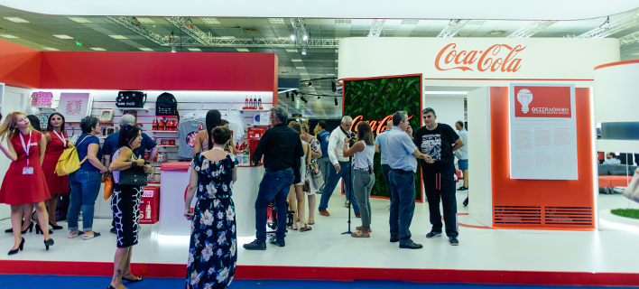 Το περίπτερο της Coca -Cola στη ΔΕΘ