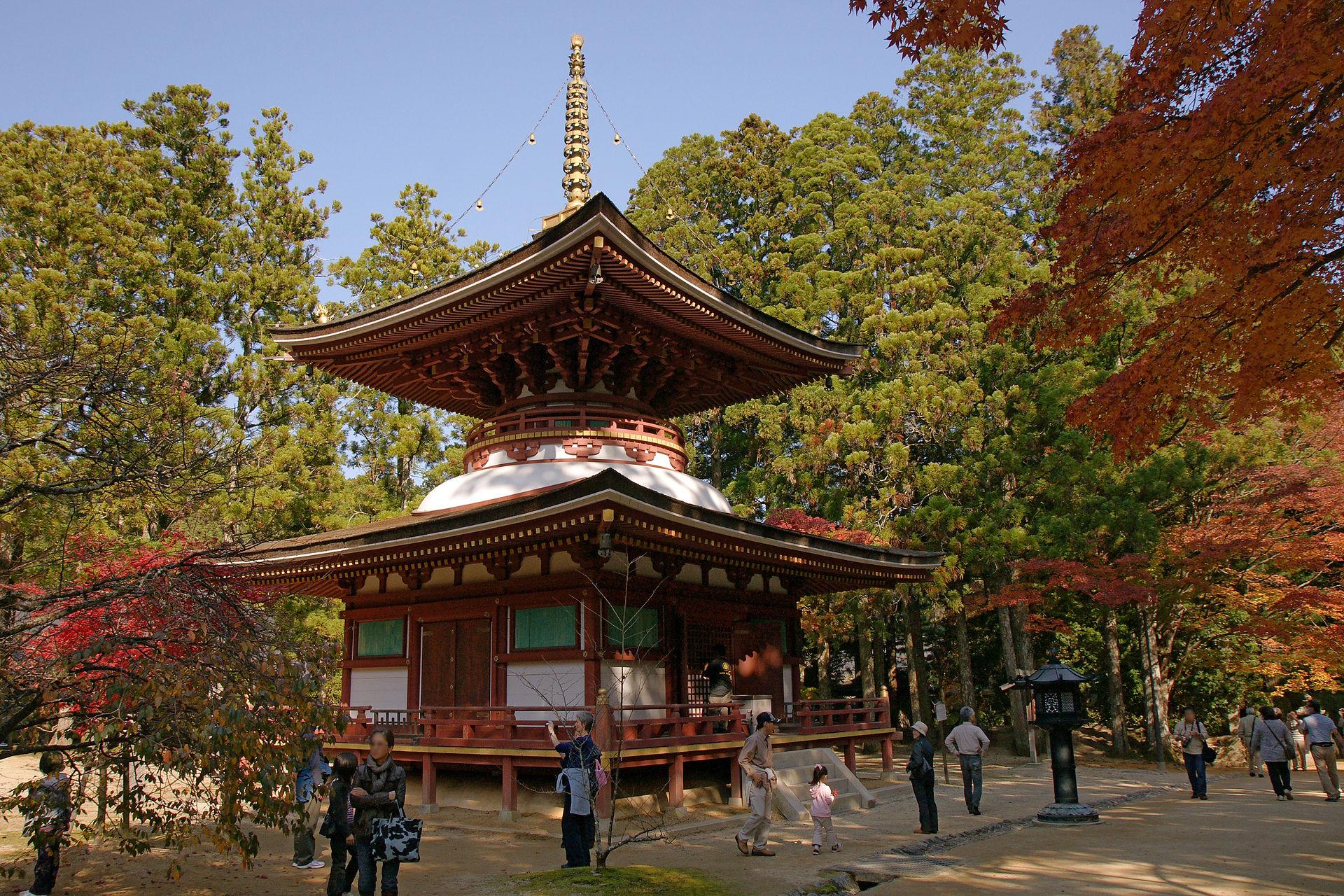 Ο ιερός ναός του όρους Κόγια, φωτογραφία: wikipedia