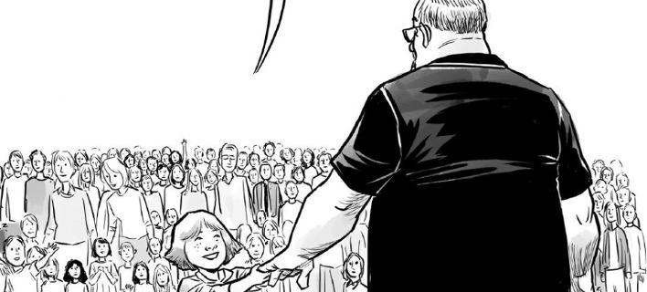 Το συγκλονιστικό σκίτσο για τον ήρωα της Φλόριντα που έσωσε με το σώμα του τους μαθητές [εικόνα]